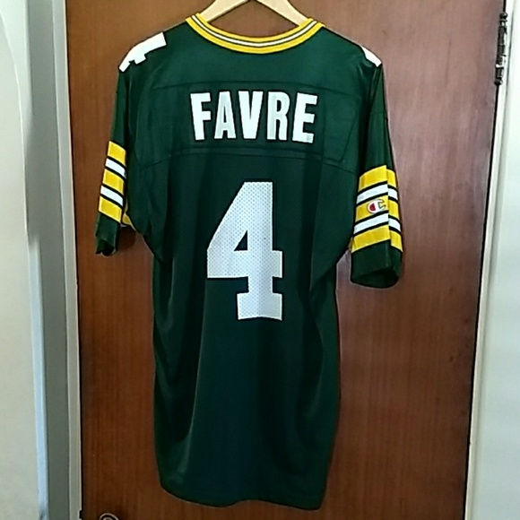 sports shoes db795 524d0 Brett Favre Green Bay Packers Champion jersey